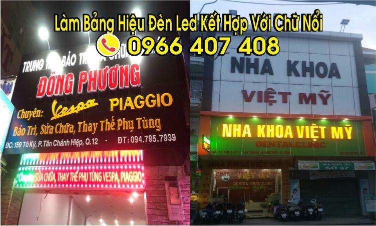 làm bảng hiệu đèn led nhôm alu giá tốt nhất 0966407408