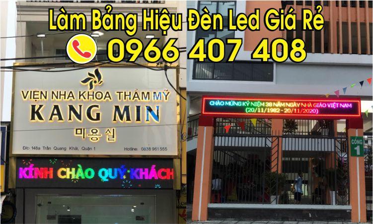 thi công làm bảng hiệu đèn led giá rẻ 0966 407 408