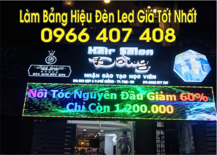 làm bảng hiệu đèn led giá rẻ uy tín 0966 407408